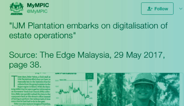 Tech: IJM Plantations Embarks On Digitalisation Of Estate Operations By Using PMMP